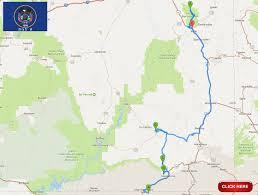 Utah Road Map by Southeast Utah 2010 Western Road Trip Vacation