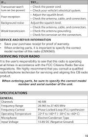 ut392 am 4w mobile cb station transceiver user manual user manuel