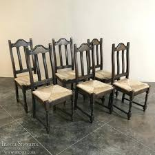 Dining Room Chair Set Oak Dining Chairs Set Of 6 Antique Rustic Oak Seat Dining
