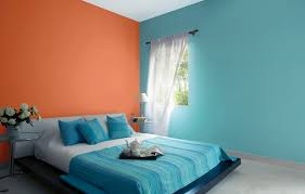 asian paints interior green or blue colour in one wall matching