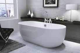 freestanding bath modern curve oval roll top synergy san marlo