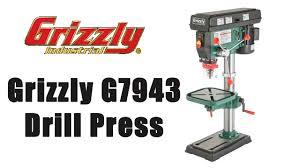 What Is A Pedestal Drill Grizzly G7943 Drill Press Unboxing And Setup Youtube