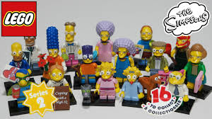 Lego Blind Packs Simpsons Series 2 Bump Codes Lego Minifigures Blind Bag Opening