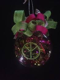 retro peace sign tie dye quilted ornament craft ideas