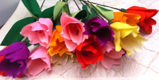 Images Of Tulip Flowers - how to make paper flowers tulips flower 6 youtube