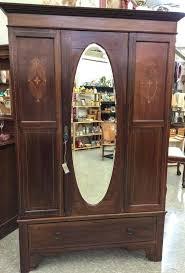 Vintage Armoire Mirror Clothing Armoire Mirror Armoire Wardrobe Antique French