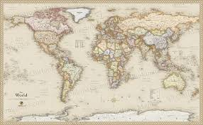Vintage World Map Canvas by Vintage Map Of The World Canvas Vintage Map Of The World