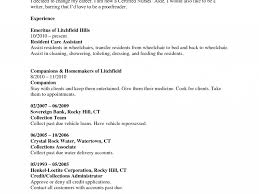 Ct Resume 98 Resume For Nursing Assistant Certified Job Duties Of Cna