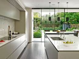 sleek minimalist modern kitchen design in wandsworth with handle