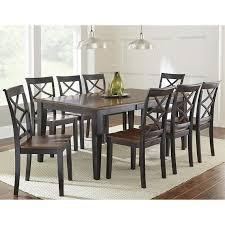 ebony table and chairs rani 7 piece dining set in medium cherry and ebony nebraska