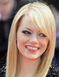 side swept bangs short hair hair style and color for woman
