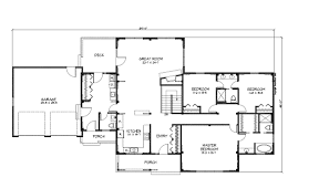 House Plan 888 13 by The Simple Ranch House Plan Simple 4 Bedroom Ranch House