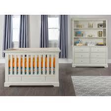 addison euro crib 5 piece nursery collection white