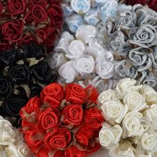 satin roses 72 pcs craft mini satin roses wedding party favors discounted