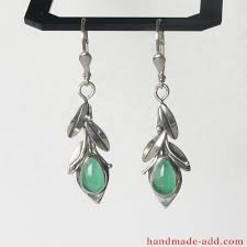 green earrings dangle silver earrings sterling silver earrings green agate