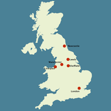 A Map Of England by Can A U0027technorth U0027 Cluster Put The North Of England On The
