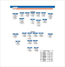 Football Depth Chart Template Excel Football Depth Chart Template 10 Free Word Excel Pdf Format