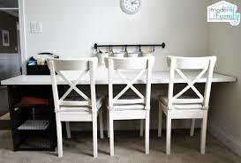 diy ikea homework station with yourmodernfamily