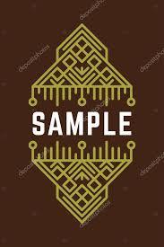 slavic or viking style oldfashioned decorative geometric
