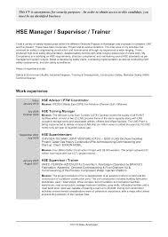hse advisor cover letter early childhood consultant sample resume