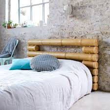 tikamoon bamboo bed headboard bedrest exotic asian design natural
