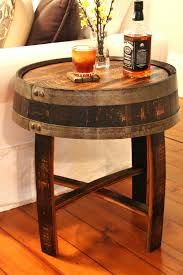 Handcrafted Wood Tables Handcrafted Oak Whiskey Barrel End Table