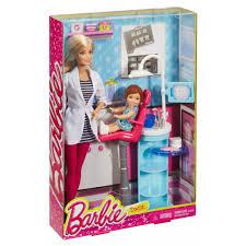 Barbie Dining Room by Barbie Careers Dentist Playset Walmart Com
