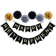 happy retirement banner retirement supplies