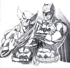 wolverine and batman sketch by jey2dworld on deviantart