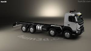 volvo 2013 truck 360 view of volvo fmx chassis truck 4 axle 2013 3d model hum3d store