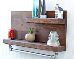 rustic wall shelf etsy