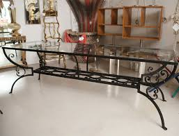 wrought iron dining table glass top wrought iron dining room table base seiza fitrop