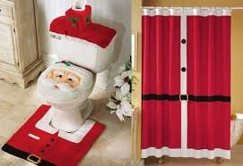 Santa Curtains Christmas Bathroom Set Louisvuittonukonlinestore Com
