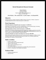 Resume Samples For Receptionist by Doctor Office Receptionist Resume