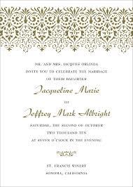 Wedding Programs Wording Examples 20 Wedding Invitations Samples Vizio Wedding