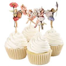 Cake Decorations For New Year by Aliexpress Com Buy 48pcs Flower Fairy Cupcake Toppers Picks For
