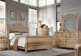 Sleigh Bedroom Furniture Laurel Greenish Gray View Sand Beige 5 Pc Sleigh Bedroom