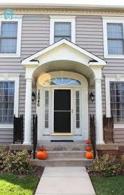 exterior astounding small front porch decoration with round white