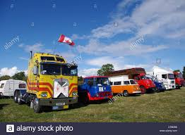 kenworth stock line up of classic trucks and vans at stoke prior steam rally