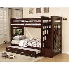 Allentown Twin Over Twin Bunk Bed Espresso Walmartcom - Twin over twin bunk beds