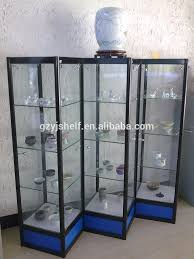 Corner Display Cabinet With Storage Commercial Glass Tower Display Case Corner Display Cabinet With