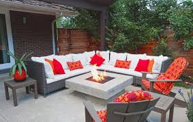Fire Pit With Glass by Award Winning Outdoor Room With Glass Topped Fire Pit And Custom