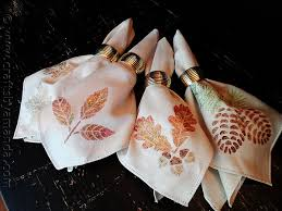 thanksgiving napkins glitter leaves and acorns crafts by amanda