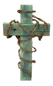 barbed wire cross redtail rustic