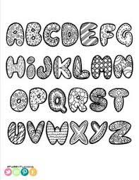 alphabet soup black line digital stamps from kpmdoodles on