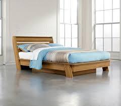 sauder soft modern queen pale oak platform bed at menards
