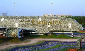 emirates a380 made of flowers at dubai miracle garden
