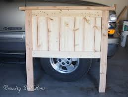How To Make Headboard Lovely Wood Headboard Country Home How To Make A Solid