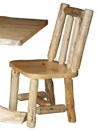 Log Dining Room Table Amish Rustic Pine Log Side Chair