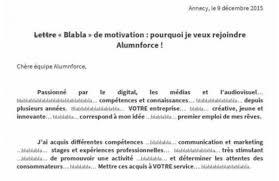 Une Lettre De Motivation Blabla La Minute Rh Cv Original La Lettre De Motivation Blabla